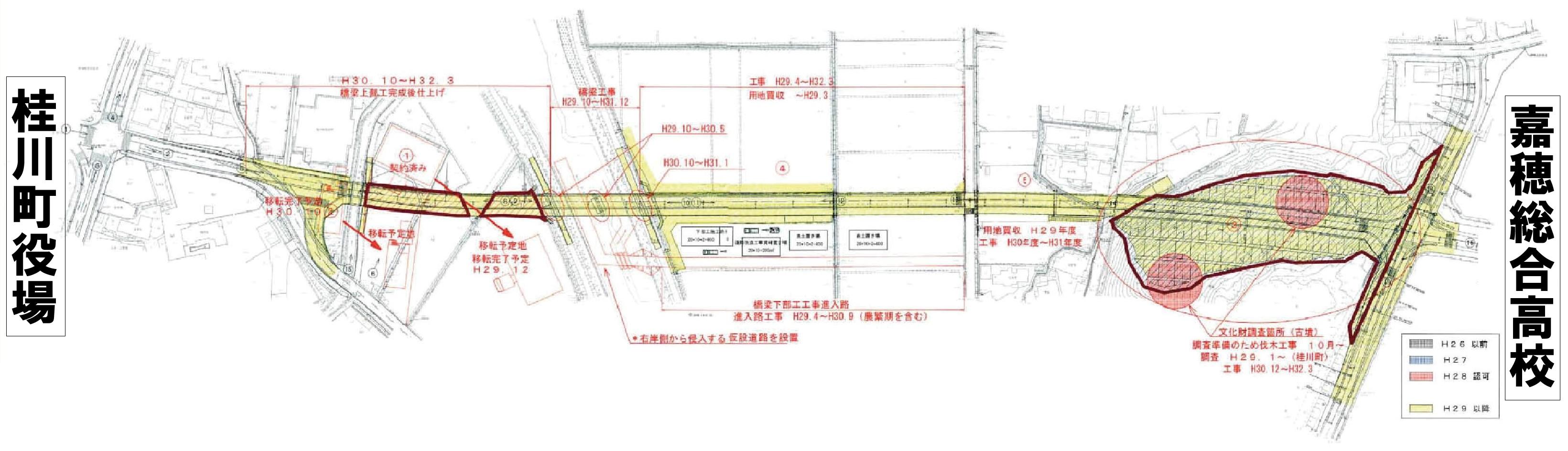 嘉穂総合高校より桂川町役場までの道路新設延伸